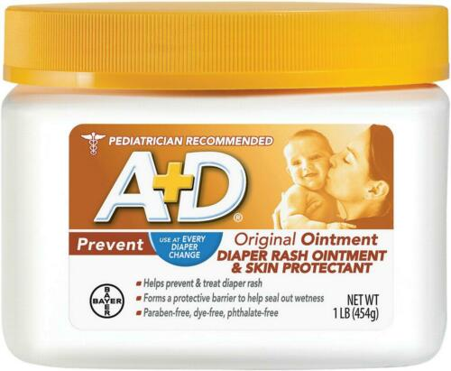 A+D Original Diaper Rash Ointment, Skin Protectant, 16 oz +