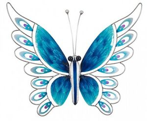 NEW Blue Metal Butterfly Outdoor Wall Art Sculpture Large Castle Hill The Hills District Preview