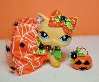 For Littlest Pet Shop Custom Accessories Collar Bow Outfit NO LPS Halloween - Pet Shop Halloween