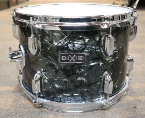 Dixie 8x12 Rack Tom Drum Black Diamond Pearl Vintage 1970