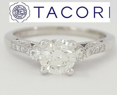 0.81 ct Simply TACORI Platinum Round Brilliant Cut Diamond Engagement Ring ()