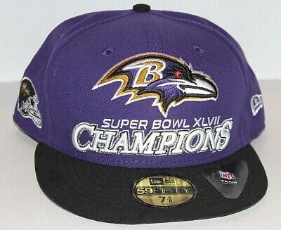 NEW Baltimore Ravens New Era Super Bowl XLVII Champions 59Fifty Hat Mens Fitted Baltimore Ravens Super Bowl Champions