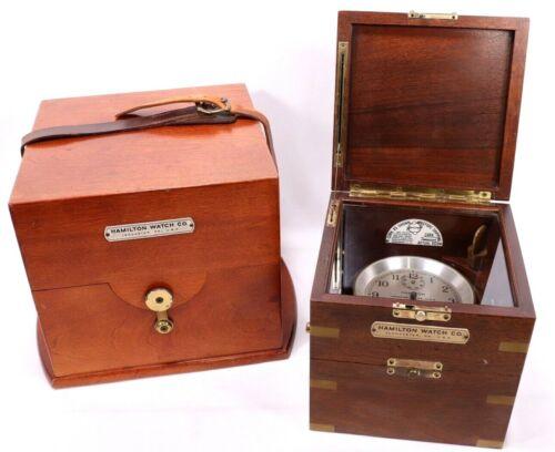 Original Hamilton Model 21 Marine Chronometer 1941