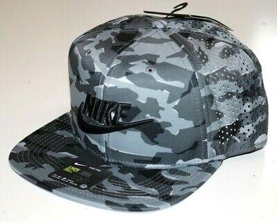 NIKE PRO TECH AEROBILL DRI FIT SNAPBACK HAT CAP - GREY CAMO - 891286-060 UNISEX