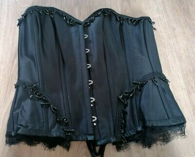 Burlesque Corset with Beading by Corset Story. Size 30'' (16-18). Gothic.
