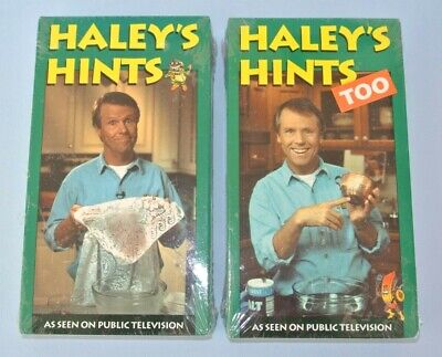 New Set of 2 Graham Haley's Hints & Cleaning Ideas VHS Tapes 1 & 2 ~ Sealed Wrap