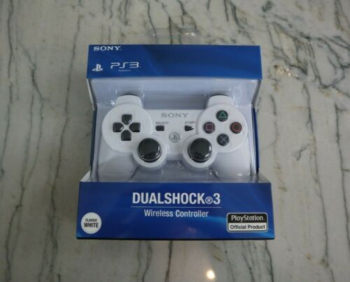 Sony Ps3 Playstation 3 Wireless Bluetooth Dualshock 3 Controller !WHITE!