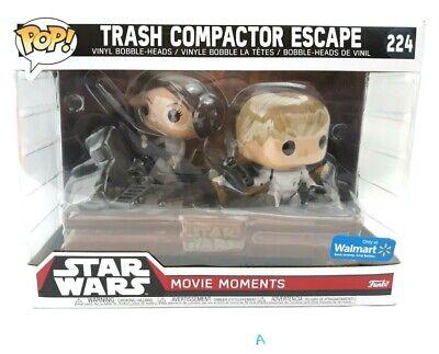 Funko Pop Star Wars Trash Compactor Escape Movie Moments Luke Leia 224