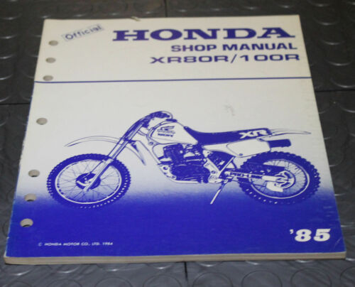 NOS OEM Honda Service Shop Manual NEW 85 XR80R / 100R XR 80 R 100 R