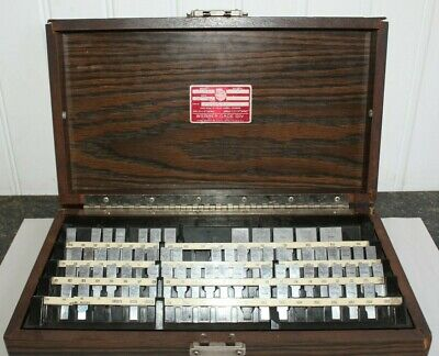 Webber Rs84a1 Gage Block Incomplete Set 63 Pieces