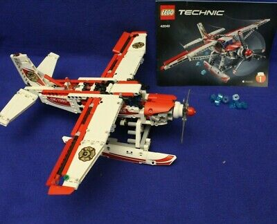LEGO Technic 42040 Fire Plane, Stickers used, Pre-owned, Complete, No Box