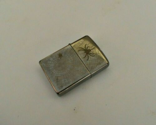Vintage Zippo Lighter Bradford.PA Made In U.S.A w/Desigh Spider