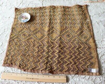 African Kuba Shoowa Cloth 10 Vintage Handwoven in the Congo DR 20 X 17