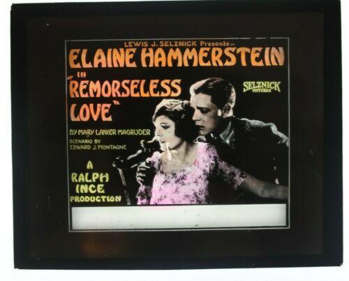 Remorseless Love 1921 glass slide - Elaine Hammerstein - free shipping