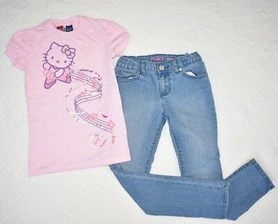 GAP Junk Food Hello Kitty Children's Place Skinny Jeans 8 Set Outfit Girl