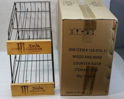 Monster Coffee Energy Drink - RARE - MONSTER Java Coffee ENERGY DRINK Retail Store Display Rack NEW IN BOX