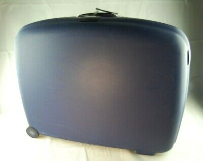 Samsonite Large Wheeled Rolling Hard Plastic Shell Suitcase Key Lock - Blue