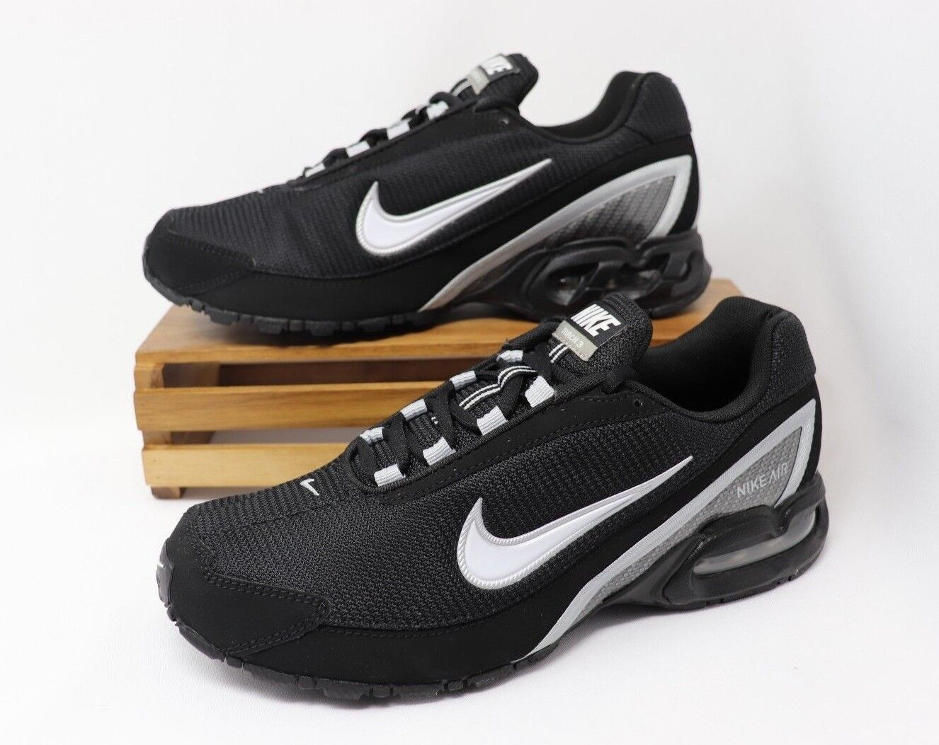 Nike Air Max Torch 3 Running Shoes Black White Silver 319116 011 Men's NWOB
