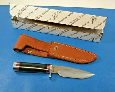 Blackjack Model 125 Black Canvas Micarta Knife with Sheath + Box USA Made