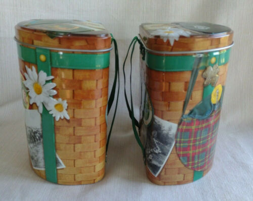 Pair of Girl Scouts Cookie Backpack Collectible Tins