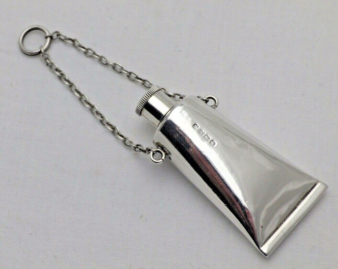 Antique Sterling Solid Silver Scent Bottle Artist Paint Tube 1888 (1139/9/OEN