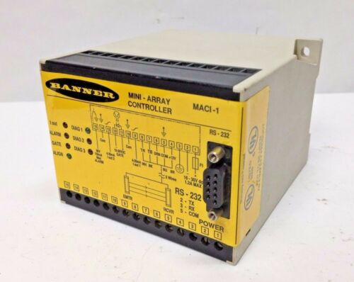 Banner Engineering RS-232 High-Res Mini Array Scanner Controller 16-30VDC MACI-1