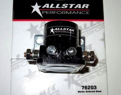 AllStar Racing Starter Solenoid HD Ford Style Remote Black Flat Mounting Base