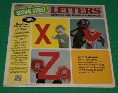 Sesame Street Letters X Z 7 EP 45 RPM Vintage NOS Jim Henson Muppets Record 1976