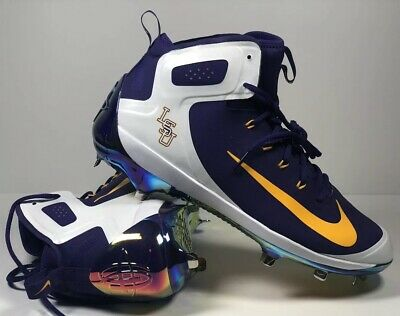 Nike Max Air Player Edition LSU College Baseball World Series Metal Cleats SZ (College Player Series)