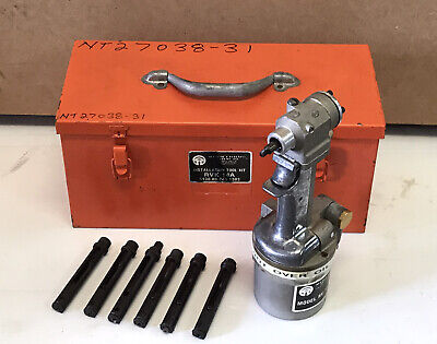 Olympic Heavy Duty Versatile Riveter Rvk 14a With 6 Noses Aircraft Tool Kit