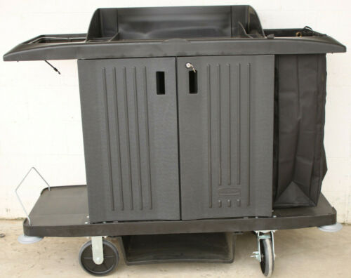 RUBBERMAID 9161 COMMERCIAL FULL SIZE HOUSEKEEPING CART w/ DOORS NEW
