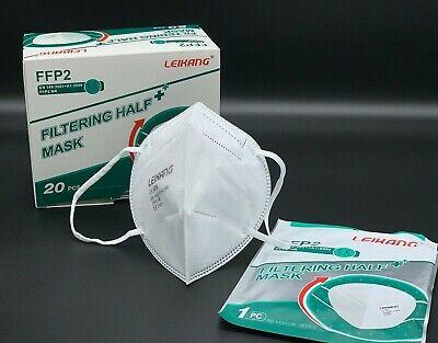 20 st FFP2 Maske Mundschutz 5 Lagig ✅CE PRÜFSTELLE 2163✅ Händler aus Deutschland