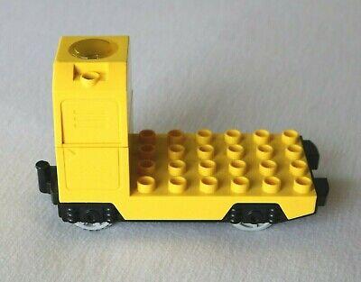 Lego Duplo Train Engine Yellow Locomotive (TESTED, WORKS!)