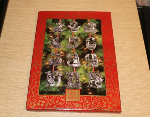 Vintage Pewter 12 Days Of Christmas Home For The Holidays Ornament NEW IN PACKAG