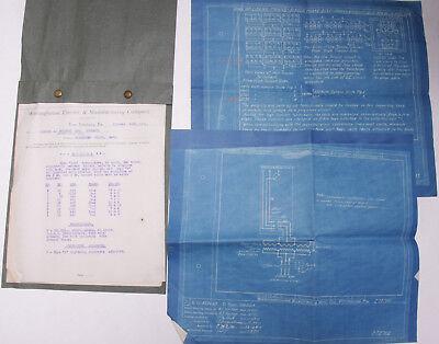 1911 Lamson Goodnow BLUEPRINTs Westinghouse Electric Pittsburgh PA Ephemera N01L