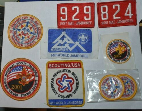 Boy Scout Patch Lot Jamboree 14th World 1975 National 1997 2001 - 1 Woven