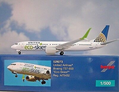 Herpa Wings 1:500 Boeing 737-900 United Airlines Eco Skies 529273