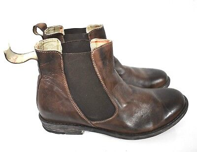 Bed Stu Royce Men's brown Chelsea Lace Up Ankle Leather Boots Size 10.5