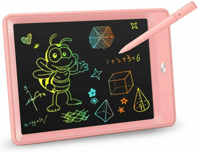 LCD Writing Tablet 10 Inch Colorful Toddler Doodle Board Drawing Tablet Erasable