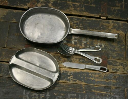US Army Mess Tin Eating Utensils dated 1944 Like used by Paratrooper on D-day
