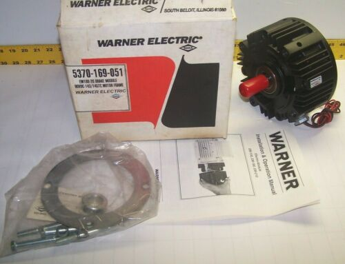 NEW WARNER ELECTRIC EM180-20 ELECTRO-MODULE BRAKE 3600 RPM 90 VDC 25 WATT