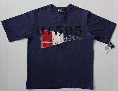 Ralph Lauren Polo Boys T-shirt Tee Top Navy Size 5 NWT
