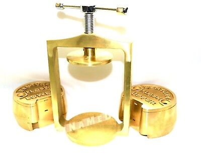 Premium Dental Laboratory Lab Spring Press Compress Wtwo Brass Denture Flask