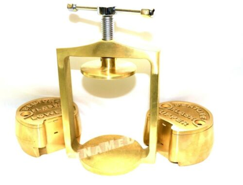 PREMIUM DENTAL LABORATORY LAB SPRING PRESS COMPRESS W/TWO BRASS DENTURE FLASK