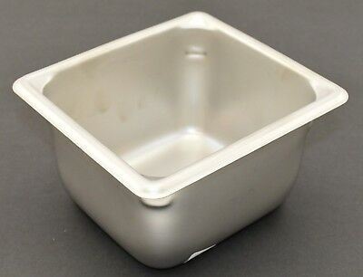 1 Stainless Steel One-sixth Steam Table Pan 4 Deep Syscoware 16 Size 5079496