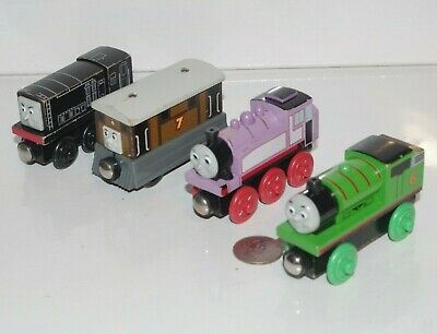 Thomas Friends Wooden Railway Tank Engine Train Percy Rosie Diesel & Toby Lot x4