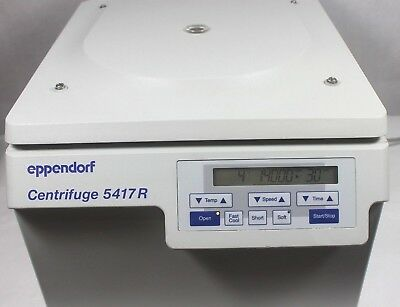 Eppendorf 5417r Refrigerated Centrifuge W Rotor F45-30-11 Lid Working