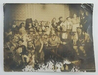 Vintage Photograph Group Of People Wearing Costumes