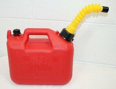 Vintage Wedco 1.25 Gallon Vented Gas Fuel Can W Flex Spout W-120 Pre-ban Clean