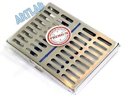 German Dental Autoclave Sterilization Cassette Tray Box Rack For 10 Instruments